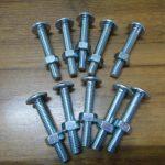Bullone per coperture in acciaio al carbonio a basso grado 4.8 con dado