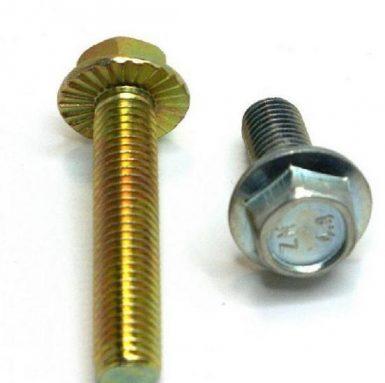 Bullone flangiato esagonale DIN 6921 zincato di qualità 8.8