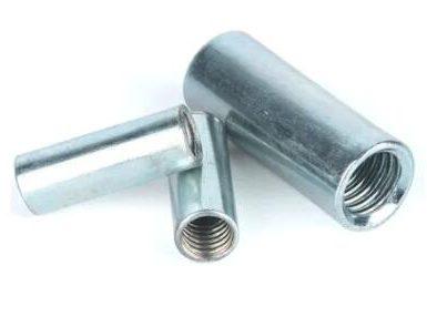 Dado di raccordo tondo in acciaio al carbonio zincato