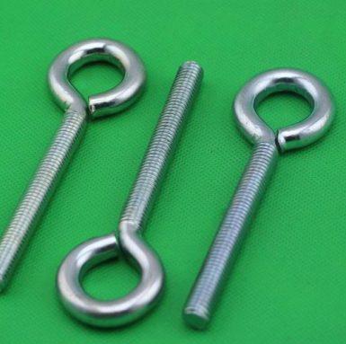 Bullone a occhiello in acciaio al carbonio basso zincato bianco